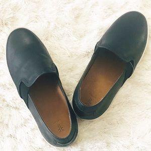 Frye Ivy |  Ivy Black Leather Slip On Shoes